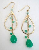 Image of Elysium Jewelry green chrysoprase earrings