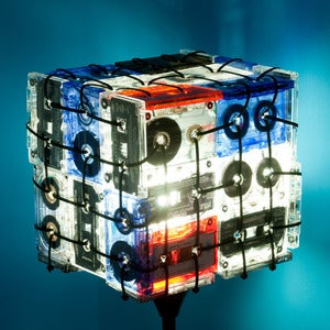 Image of CASSETTE TAPES FLOOR LAMP. Special edition