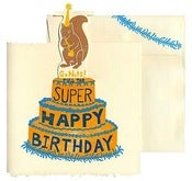 Image of Naughty Squirrel Pop Up Birthday Card  ♥ SOLD OUT! ♥