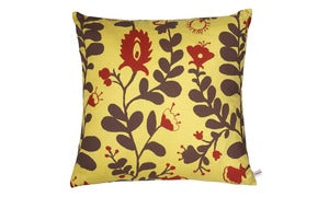 Image of Hungarian Floral Cushion-Yellow