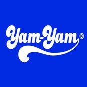 Image of Retro Yam Yam Design - Royal Blue, available as Tee Shirt and Poster