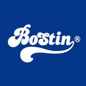 Image of Retro Bostin Design - Royal Blue, available as Tee Shirt and Poster