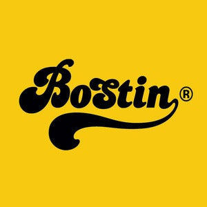 Image of Retro Bostin Design - Gold/Yellow, available as Tee Shirt and Poster