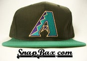 Image of VINTAGE ARIZONA DIAMOND BACKS BLACK SNAPBACK CAP