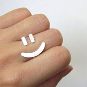 SmilingSilverSmith handmade silver ring :  fashion handmade girl cute