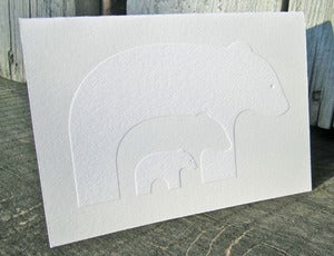 Image of Blissful Bears Letterpress Notecards
