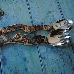 Image of Skateboard Salad Servers~Blue and Black