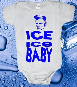 Image of ICE ICE BABY VANILLA ICE BABY ONESIE ONE PIECE BODYSUIT