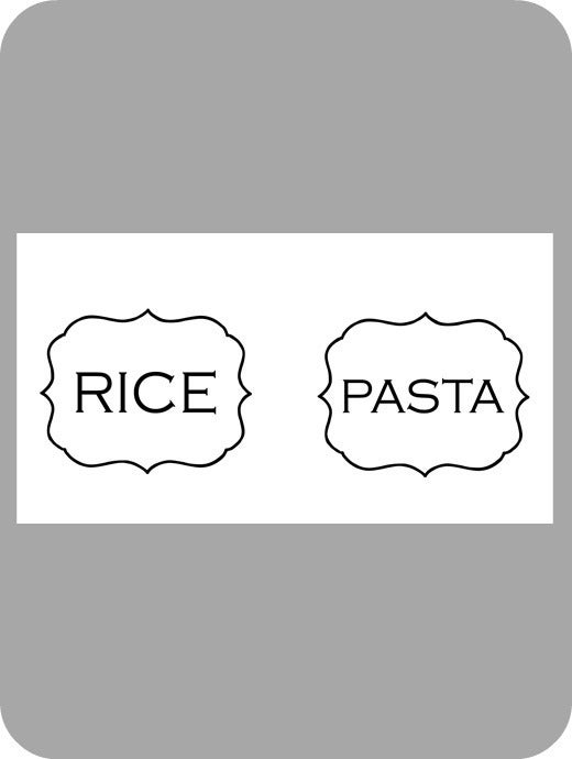 Image of Labels:Pasta & Rice (frame)