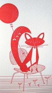 Image of Fox & balloon Letterpress Notecards