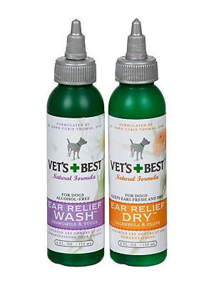 Image of Vet's Best Natural Ear Relief Wash & Dry