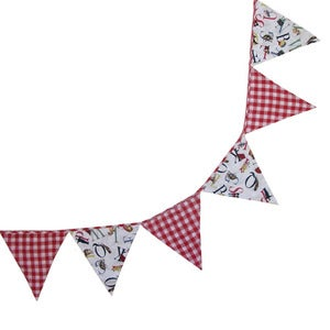 Image of Powell Craft ABC Print &amp; Gingham Bunting