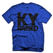 Image of Ky Raised in KY Blue & Black