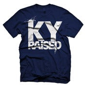 Image of Ky Raised in Navy & White