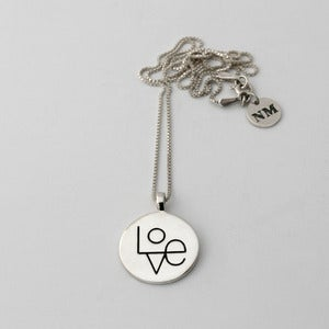 Image of Love Token Necklace | Silver {FREE SHIPPING}