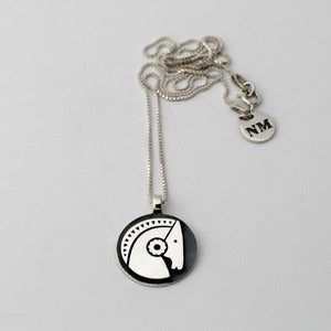 Image of Pony Token Necklace | Silver {FREE SHIPPING}