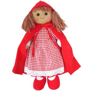 Image of Powell Craft Rag Doll - Red Riding Hood