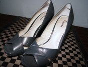 Image of Facade Patent Leather Pumps