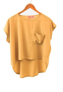Mustard Pocket Top