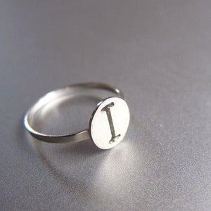 Image of Custom Initial - Handmade Silver Ring