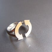 Image of ECO Warrior Recycle Sign Ring - Handmade silver Ring