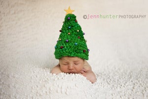 Image of Christmas Hat Newborn Handspun Crochet Pattern (pdf #79)