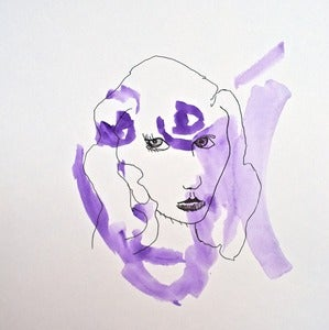 Image of Purple with Girl by Daniel Smith