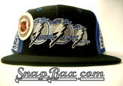 Image of VINTAGE TAMPA BAY LIGHTNING 3 LOGO SNAPBACK CAP