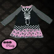 Image of Funky Zebra Dress - Size 6-12 Months