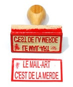 Image of Le mail-art c'est de la merde.