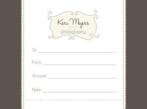 Image of Keri Meyers Photography GIFT CERTIFICATE