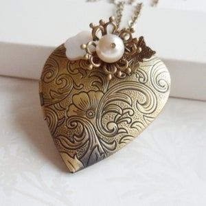 Image of Cherished Heart Locket Necklace