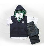 Image of Vest Hoody 4pc Casual Set Toddler
