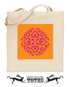 Image of Persian Glaze TOTE BAG (cerise/orange)