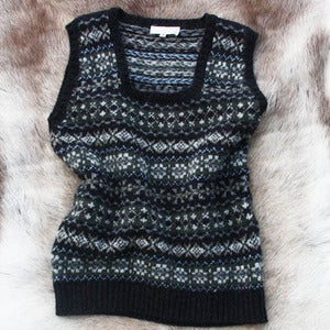 Image of Shetland wool Fairisle Tank