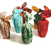 Image of Vintage Sari Silk Furoshiki Gift Wrap Set, 6 Smalls