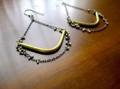Image of Waning Crescent Earrings