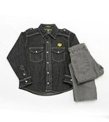 Image of L/S Denim Shirt 2pc Set Toddler