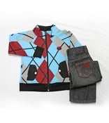 Image of L/S Argyle Track Jacket 2pc Set Toddlers