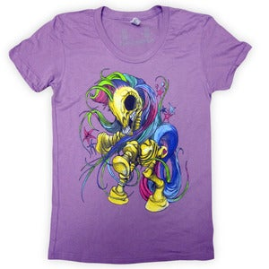 Image of My Little Boney Purple | By Alex Pardee | Girly Shirt
