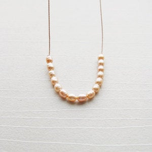LULU | Harper Street :  pearl modern freshwater pearls peach