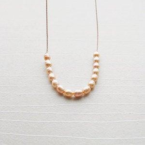 LULU | Harper Street :  pearl modern freshwater pearls peach