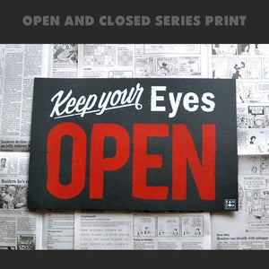 Image of OPEN print
