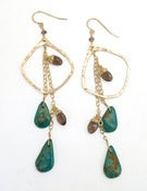 Image of Elysium Jewelry smoky quartz & turquoise earrings