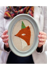 Image of DIY Crewel Embroidery Kit - Party Fox