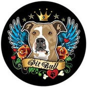 Image of Pit Bull Tattoo Style Magnet - Tan