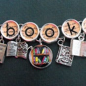 Image of Bookish Literary Themed Charm Bracelet