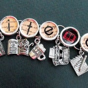 Image of Write On Writers Charm Bracelet