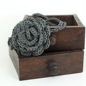 Image of Rose Headband in Steel Grey
