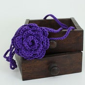 Image of Rose Headband in Bright Purple